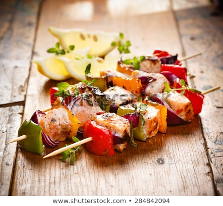 salmon fish skewers stock photo © ozgur