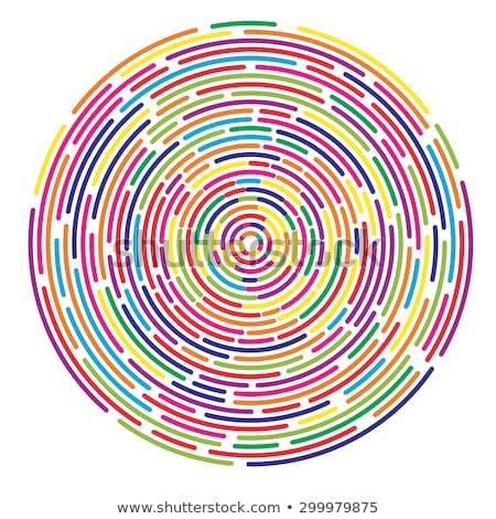 Abstrato cor concêntrico círculos dois como Foto stock © marinini