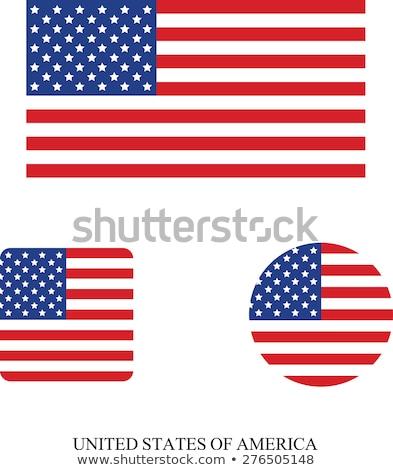 USA · gombok · gyűjtemény · jelvények · stilizált · amerikai · zászló - stock fotó © rbiedermann