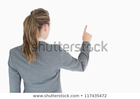 sarışın · kadın · işaret · bir · şey · hava · kadın · akıllı - stok fotoğraf © wavebreak_media