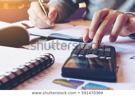 Financiering volgende uitgang symbool financiële schuld Stockfoto © Lightsource