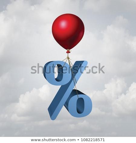3d Illustration: Business and Finance. Raising interest rates in Stock photo © kolobsek