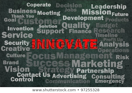 Innovate concept with other related words on retro background stock photo © dacasdo