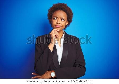Mujer de negocios mano barbilla jóvenes Foto stock © wavebreak_media
