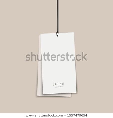 Nota papieren touw witte geïsoleerd Stockfoto © deyangeorgiev