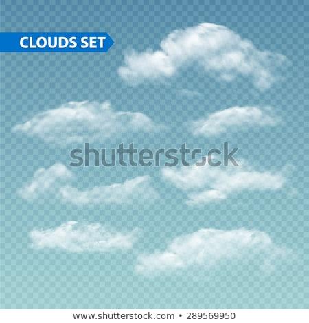 Güneşli bulutlar örnek eps vektör dosya Stok fotoğraf © obradart