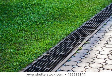 Drainage system the manhole on floor Stock photo © kawing921