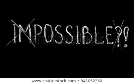 Onmogelijk geschreven Blackboard school kruis frame Stockfoto © Zerbor