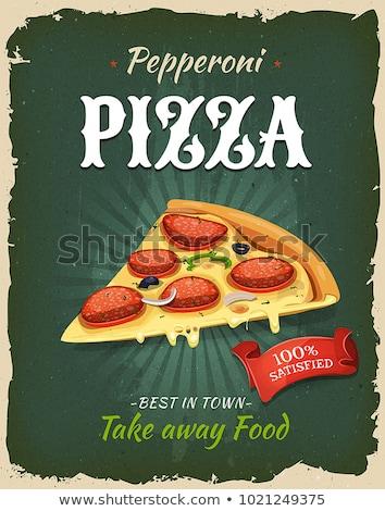 Pizza Vintage Poster Stock photo © benchart