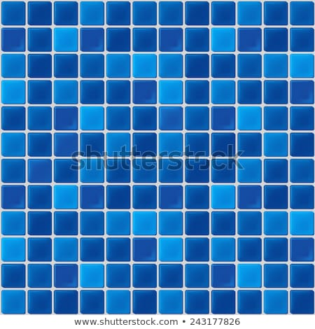 Wall of blue mosaic tiles Stock photo © zzve