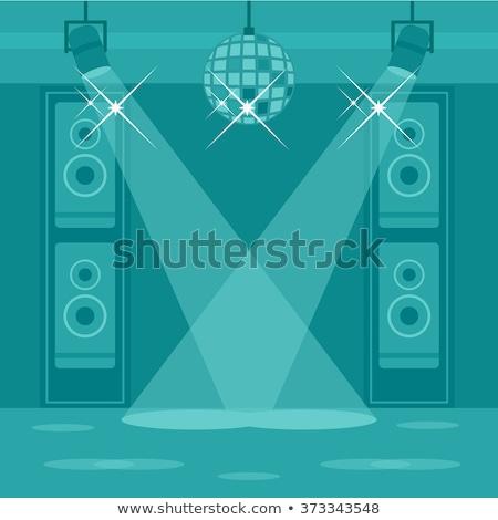 Luidspreker dansvloer spreker club lichten achtergronden Stockfoto © zzve