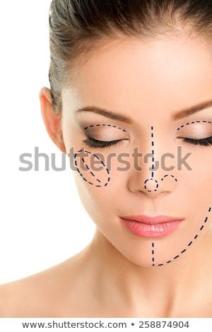 Közelkép női arc műtét osztályzat szem nő Stock fotó © chesterf