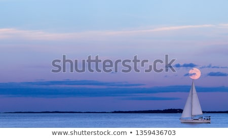 Vitorlás éjszaka luxus víz szállítás hajóút Stock fotó © Anna_Om