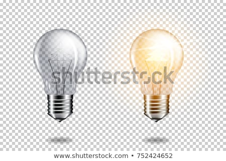 Tree in a light bulb isolated on white concept illustration Stock photo © alexmillos