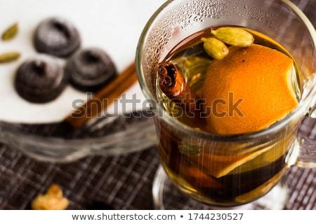 Кубок · красный · чай · тростник · сахар · корицей - Сток-фото © mythja