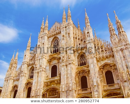 Retro looking Duomo, Milan Stock photo © claudiodivizia