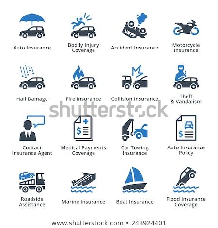 Stockfoto: Auto · dienst · iconen · mariene · zorg · tuning