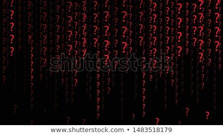 Big Question in the Data Stream Stock photo © 3mc