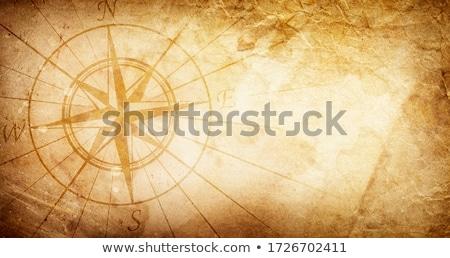 Rusty brújula edad blanco tecnología búsqueda Foto stock © FOKA