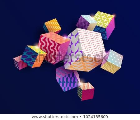 cubes abstract shape stock photo © silense