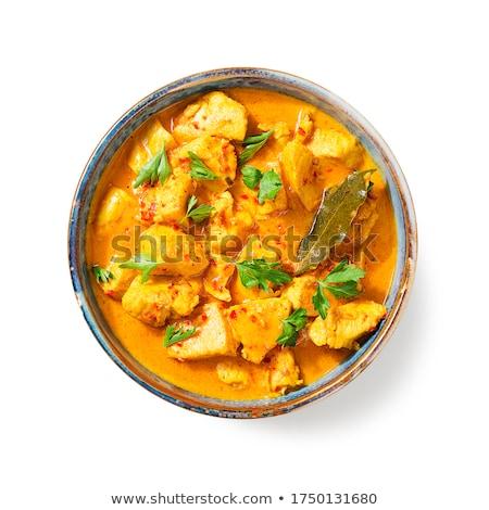 indiai · tyúk · basmati · rizs · kenyér · narancs - stock fotó © unikpix