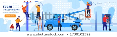 elétrico · instalação · trabalhar · caixa · indústria - foto stock © listvan