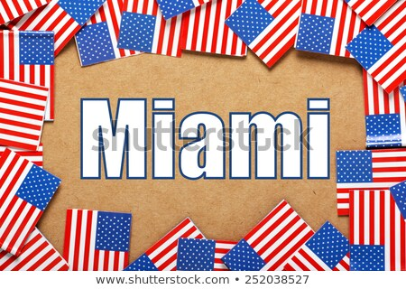 Miniature Flag of Miami Florida Stock photo © bosphorus