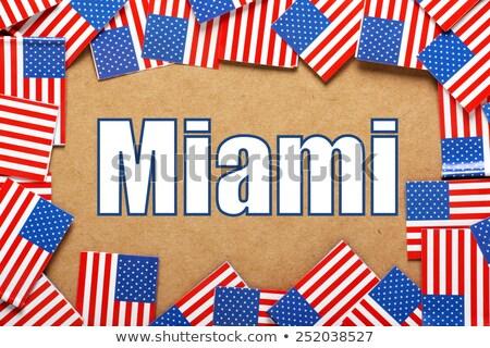 Miami · zászló · város · Florida · Egyesült · Államok · Amerika - stock fotó © bosphorus
