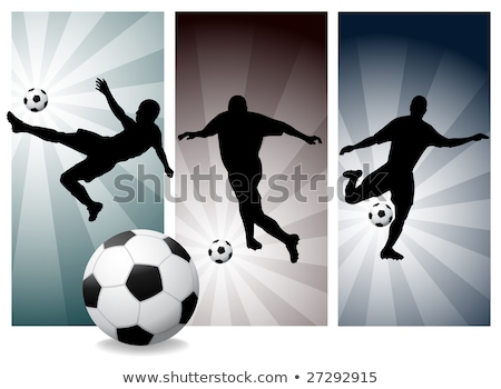 vector soccer players easy change colors stock photo © beholdereye