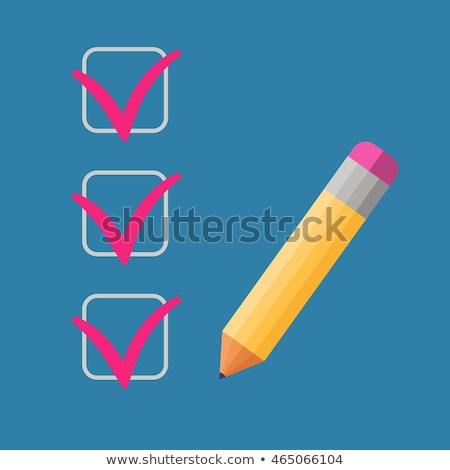 Checklist with a pencil checking off tasks Stock photo © robuart