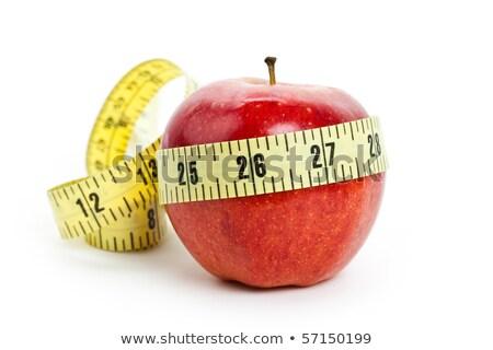 赤いリンゴ · 巻き尺 · リンゴ · 赤 · 食べ - ストックフォト © boroda