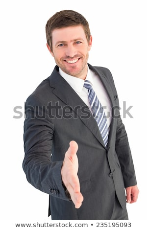 Businessman offering hand for handshake Stock photo © bmonteny