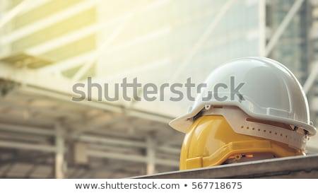 mühendislik · kask · çalışma · plan · harita · ev - stok fotoğraf © FrameAngel