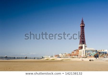Kilátás történelmi torony turistaövezet Anglia napos Stock fotó © photohome