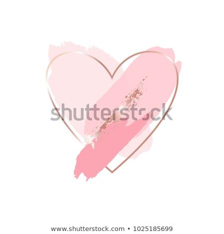 bella · rosa · cuore · san · valentino · splendente · nuvoloso - foto d'archivio © enlife