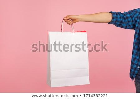 白 紙 ショッピングバッグ 木製 小売 ストア ストックフォト © stevanovicigor