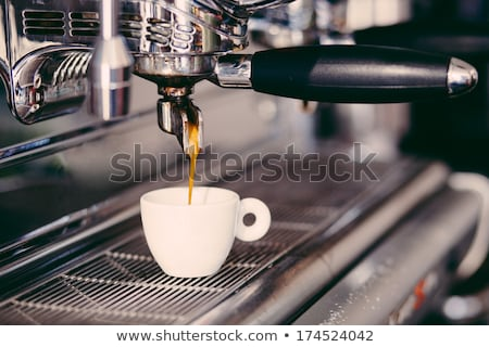 coffee machine making espresso stock photo © dariazu