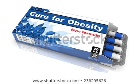Guérir obésité Pack bleu ouvrir Photo stock © tashatuvango