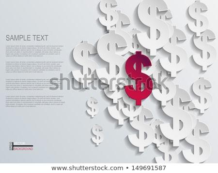 Piros absztrakt dollárjel árnyék fehér pénz Stock fotó © Elmiko