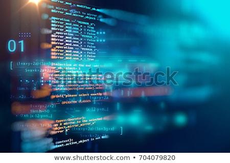 уязвимый · безопасности · сеть · данные · программа · Код - Сток-фото © redshinestudio