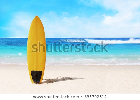 surfdoards on the beach stock photo © joyr