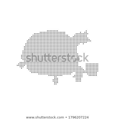 map of republic of belarus with with dot pattern stock photo © istanbul2009