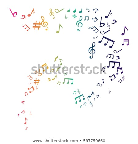 Music Notes Green Vector Icon Design Stock photo © rizwanali3d