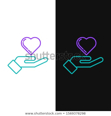 保護された 紫色 ベクトル アイコン デザイン サービス ストックフォト © rizwanali3d