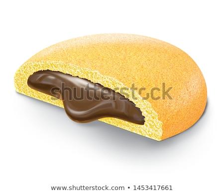 сэндвич · Печенье · шоколадом · заполнение · белый · сломанной - Сток-фото © foka