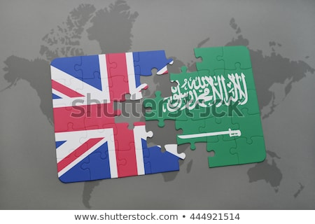 saudi arabia and european union flags in puzzle stock photo © istanbul2009
