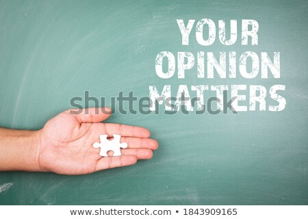 Opinion vert puzzle blanche question professionnels Photo stock © tashatuvango