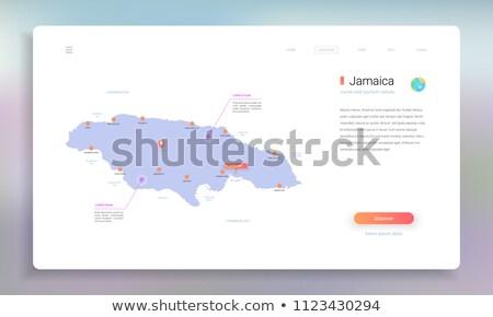 оранжевый кнопки изображение карт Ямайка форме Сток-фото © mayboro