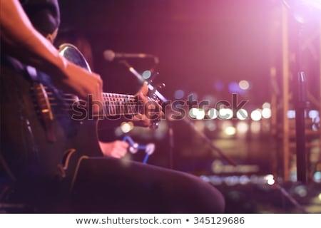 Live muziek groep rock concert fase Stockfoto © carloscastilla