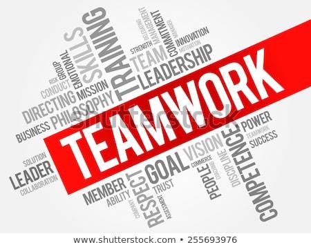 Stok fotoğraf: Kelime · bulutu · takım · çalışması · grup · iletişim · eğitim · başarı